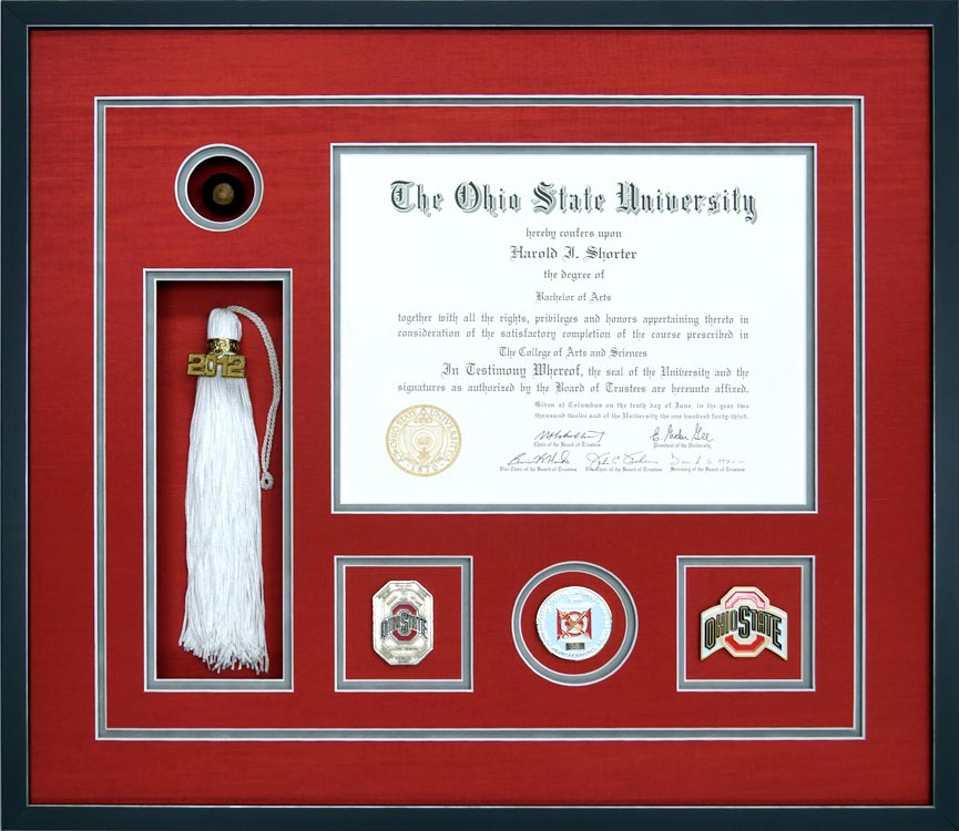 Gallery - Awards, Certificates, and Diploma Examples - Framed Guidons