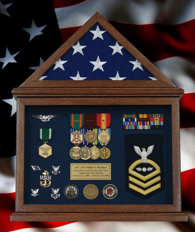 Gallery Custom Military Shadow Box Examples Framed Guidons