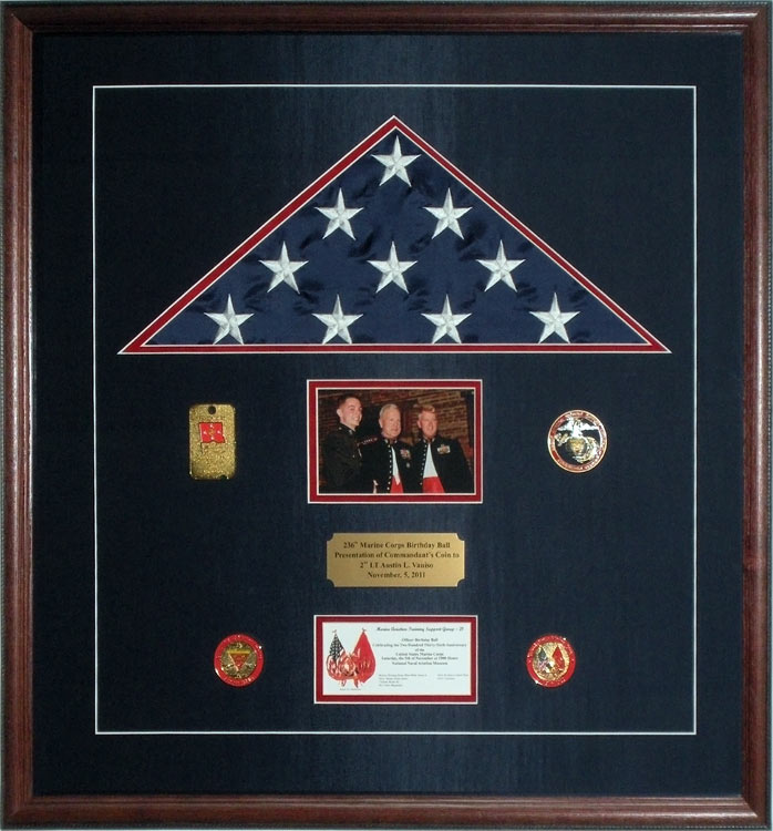 Gallery Custom Flag Display Case Examples Framed Guidons