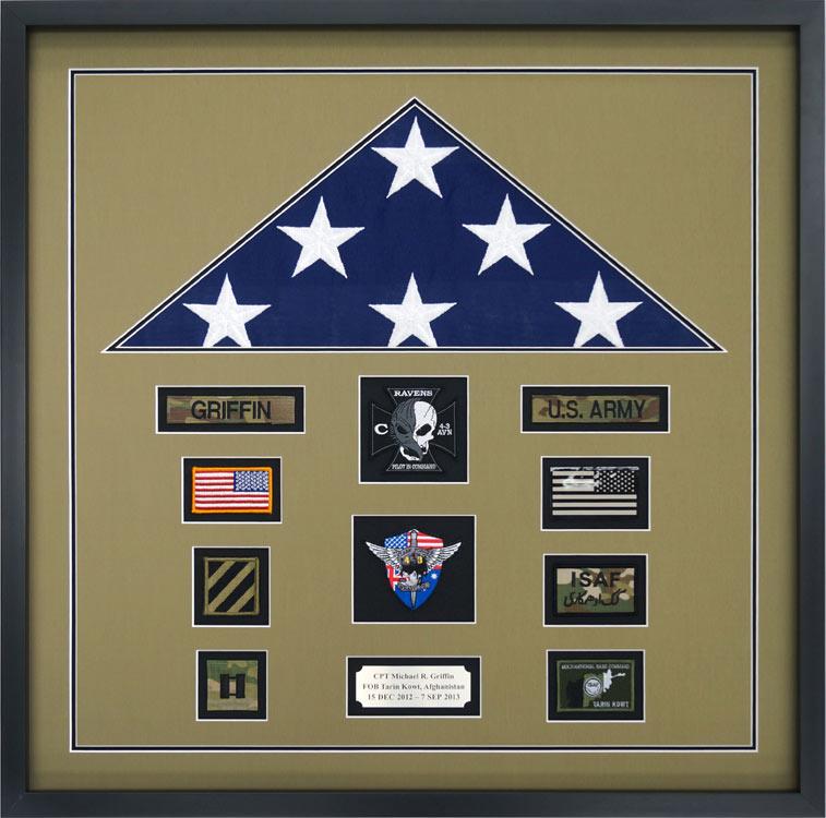 Gallery Custom Flag Display Case Examples Framed Guidons
