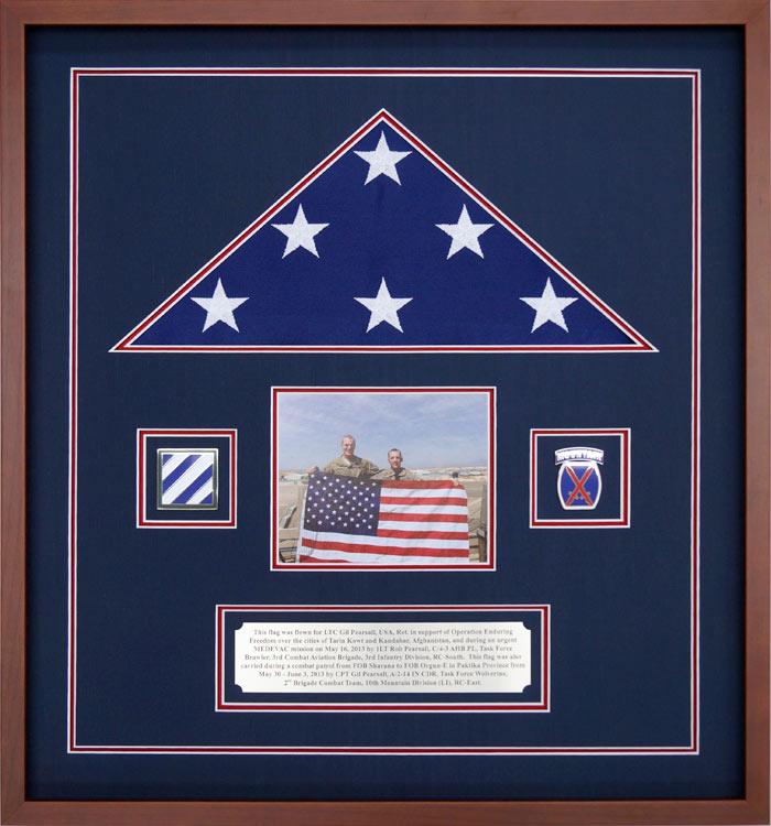 Gallery – Custom Flag Display Case Examples - Framed Guidons