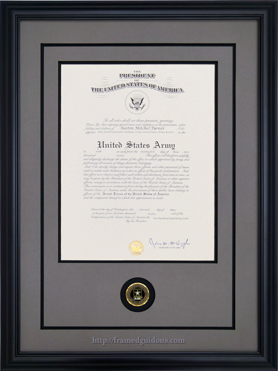 custom framed us army promotion certificate framed guidons
