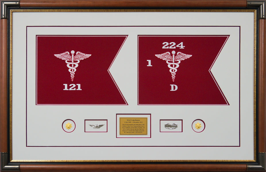 Medical Corps Guidons Custom Framed 7 X 5 Miniature