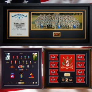 Completed Projects Gallery Examples of Custom Military Framing
