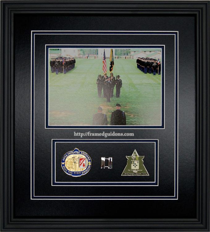 custom framed army ceremony military photo 192nd brigade