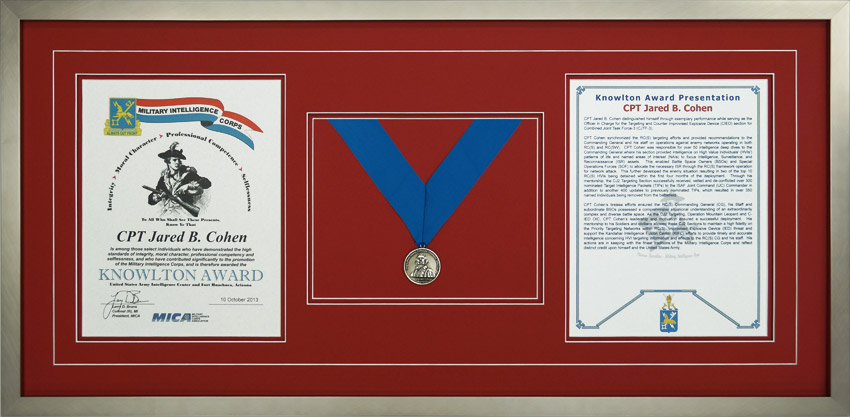 gallery - custom framed military medals and ribbons