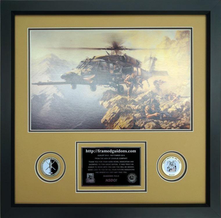 Black Hawk Special Delivery Custom Framed Print Framed