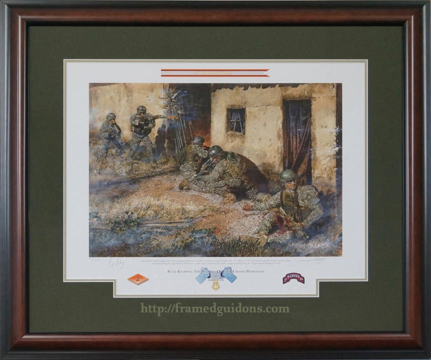 framed limited addition print titled fully knowing the