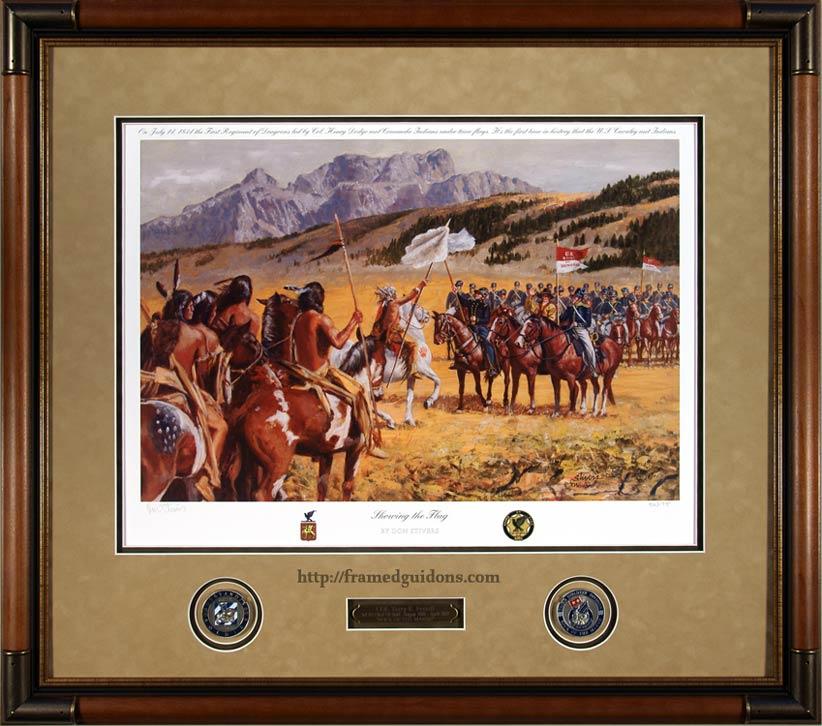 Showing The Flag Custom Framed Military Print Framed