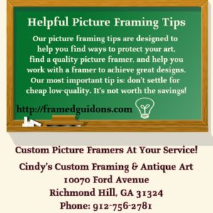 Picture Framing Tips by Framed Guidons