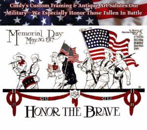 Memorial Day Tribute - Framed Guidons