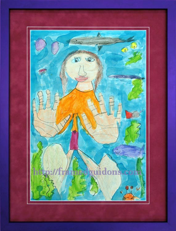 Framed Kids Art Provides Inspiration - Framed Guidons